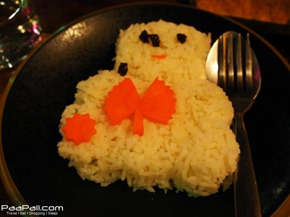 ข้าวเปล่า น่ารักปะเป็นรูปน้องหมี