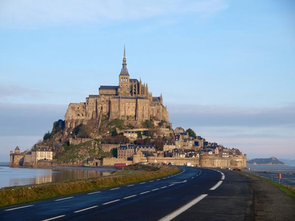 เกาะ Mont Saint-Michel, ประเทศฝรั่งเศส