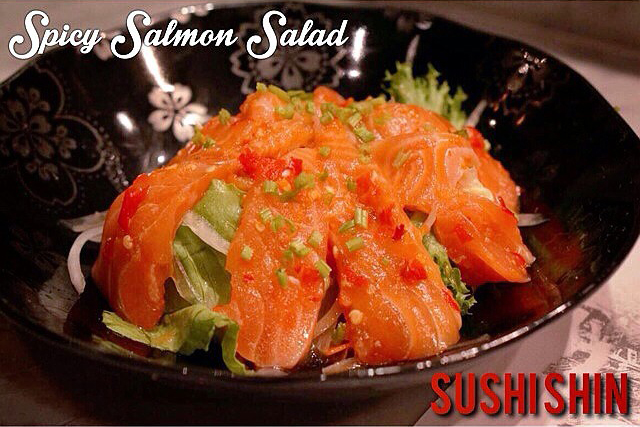 SPICY-SALMON-SALAD-Sushi Shin(ซูชิชิน)