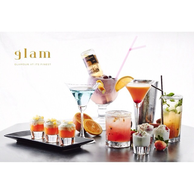 Glam's specialty cocktails