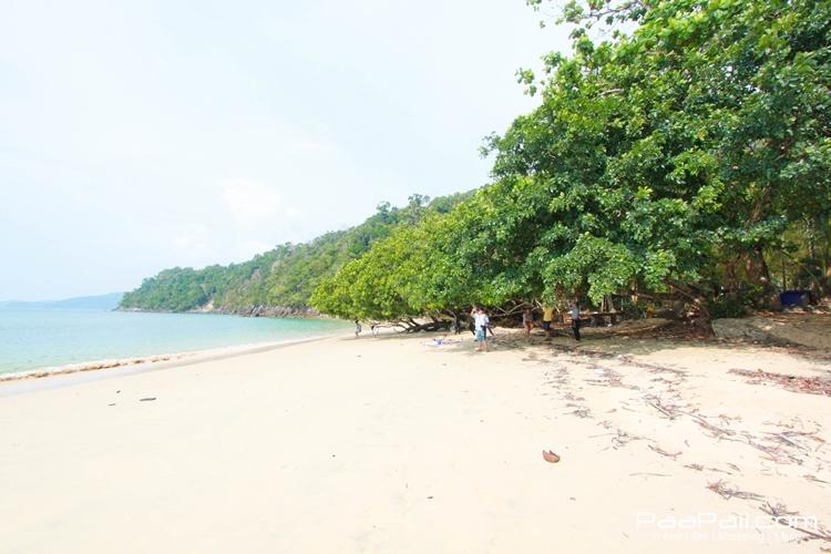 หาดทรายละเอียดที่อ่าวกวางปีบ